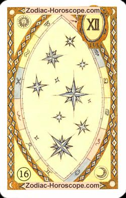 The stars astrological Lenormand Tarot