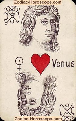 Venus astrological psychic cards